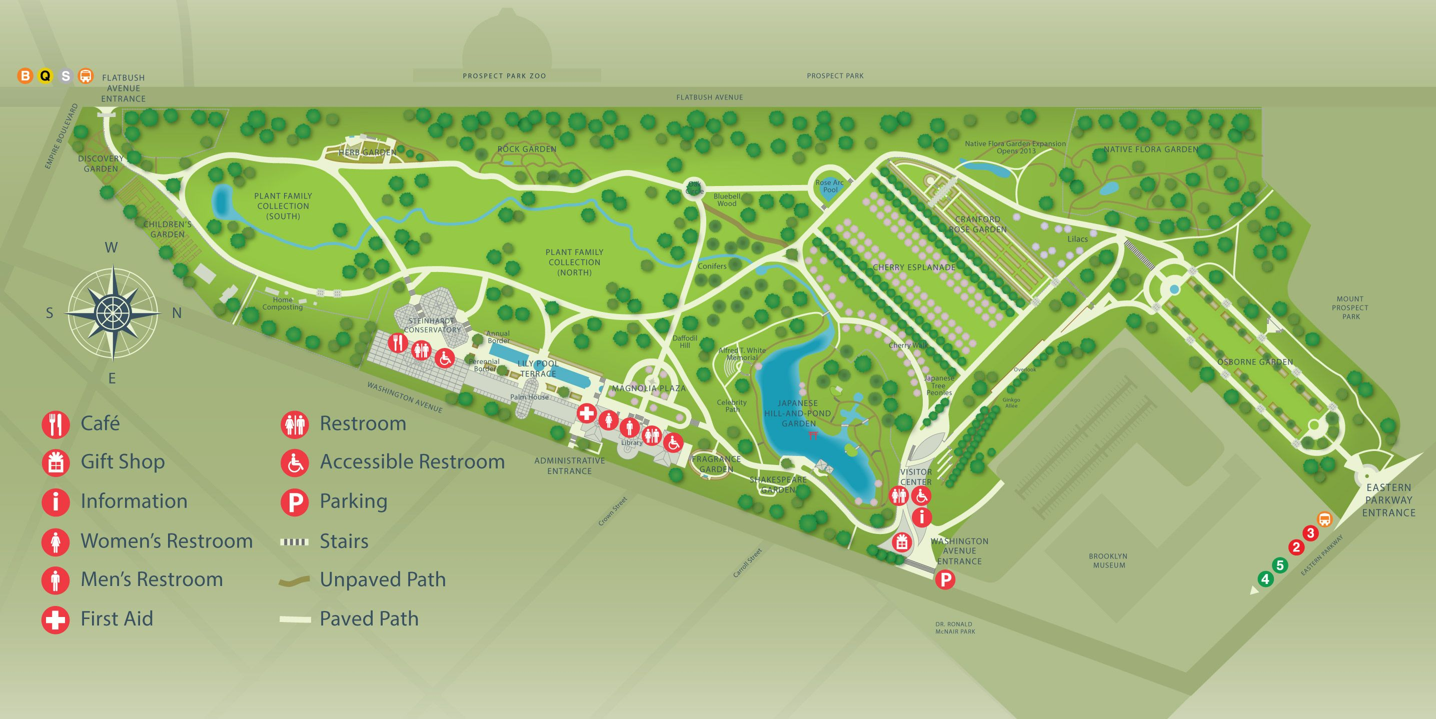 Gardens conservatories new york botanic garden map - New york botanical garden directions ...