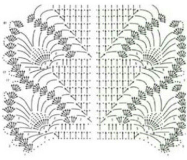 Picasa Web Albums - Crochet shawl - pineapple stitch pattern diagram ...