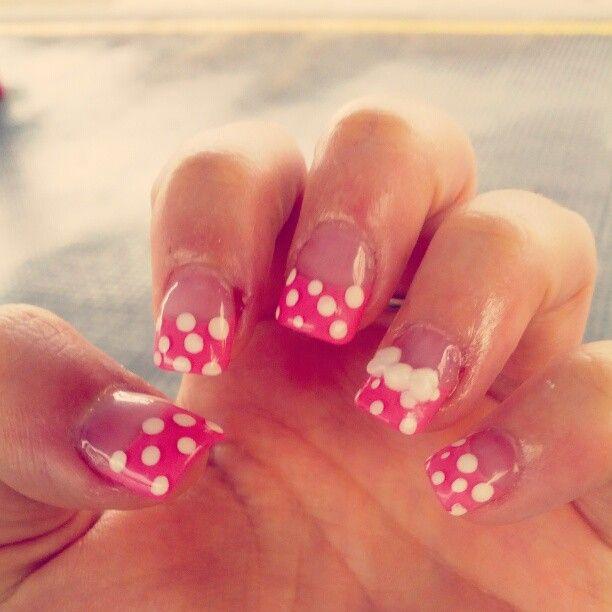 My acrylic nails.