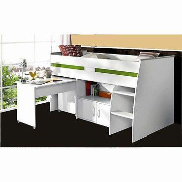 parisot hochbett reverse mit schreibtisch wei 250 kinderzimmer pinterest hochbetten. Black Bedroom Furniture Sets. Home Design Ideas