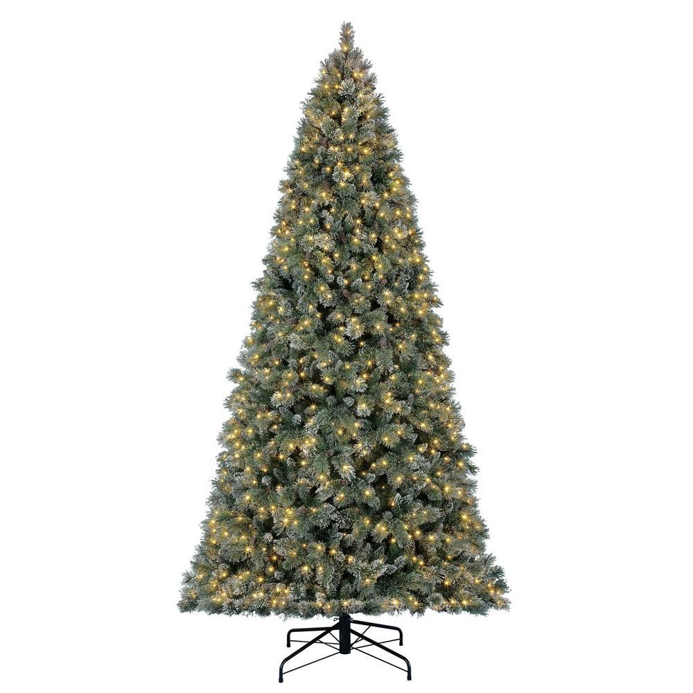 Home Accents Holiday 7 5 Ft Pre Lit Led Sparkling Pine Artificial Christmas Tree With 600 Warm White Micro Dot Lights Christmas Tree Slim Artificial Christmas Trees Pre Lit Christmas Tree