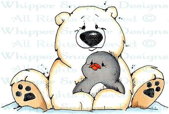 A Hug For Ike Penguins Animals Rubber Stamps Shop Cute Drawings Bear Stuffed Animal Christmas Drawing