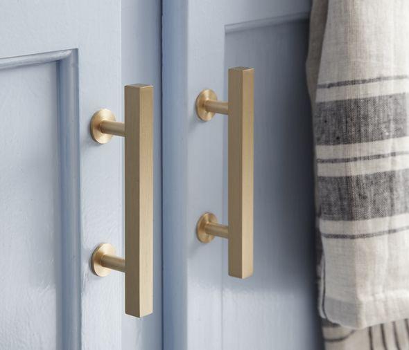 modern gold drawer pulls. modern knobs and drawer pulls, via little green notebook gold pulls .