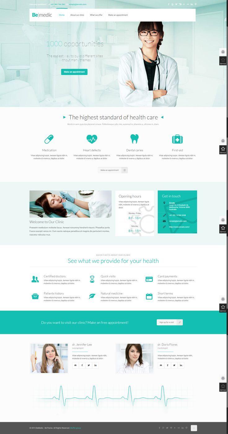 Hospital Website Medical Website Design Web Design Inspiration Web Layout Design