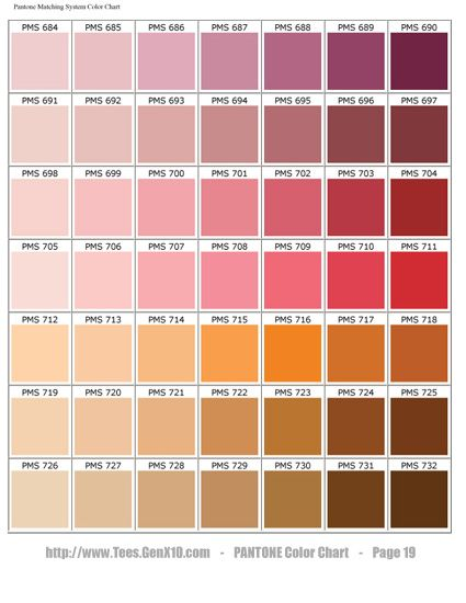 PANTONE Color Chart - PMS - Screen Printing colors that move you