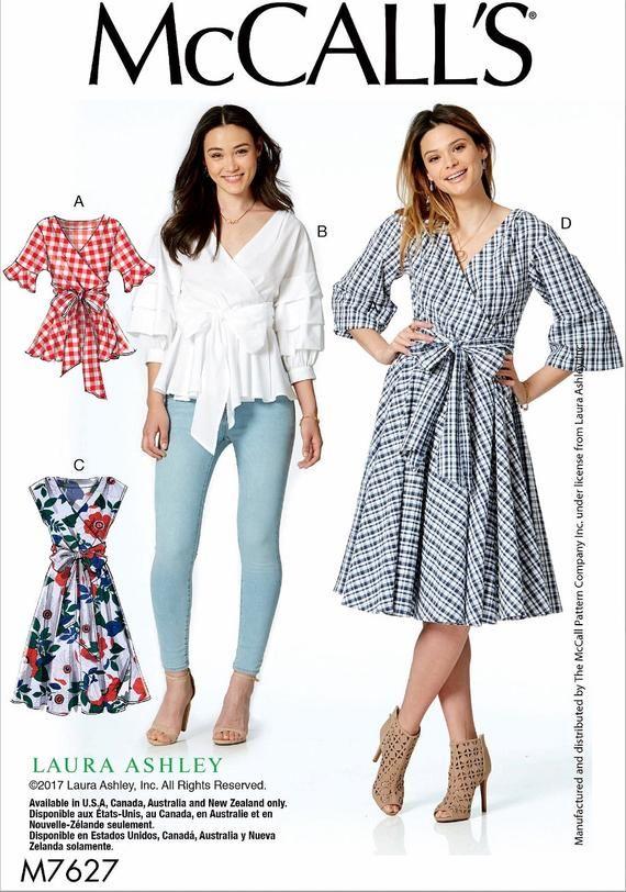 1c0407475277 Sewing Pattern Women s Wrap Blouse Pattern