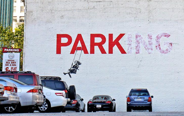 The Street Work of Banksy: British Graffiti Artist,   political activist and painter