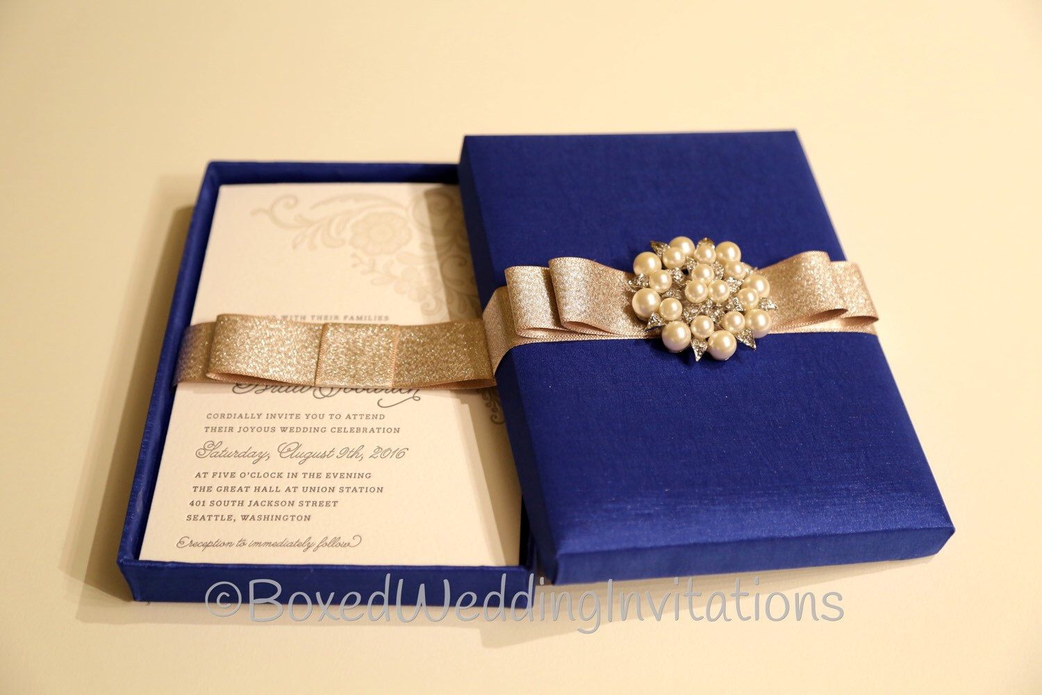 box wedding invitations online%0A Elegant Boxed Wedding Invitation   Box invitations  Unique