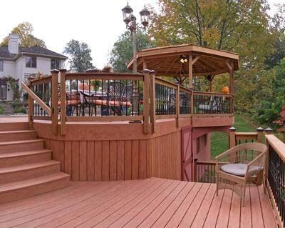Gazebos For Decks Multi Tier Deck With Gazebo Decks Photo Gallery Archadeck Of Gazebo On Deck Pergola Backyard