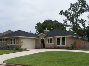 Exteriors Traditional Exterior Houston By Kurk Homes Ranch Exterior Stucco Homes Traditional Exterior