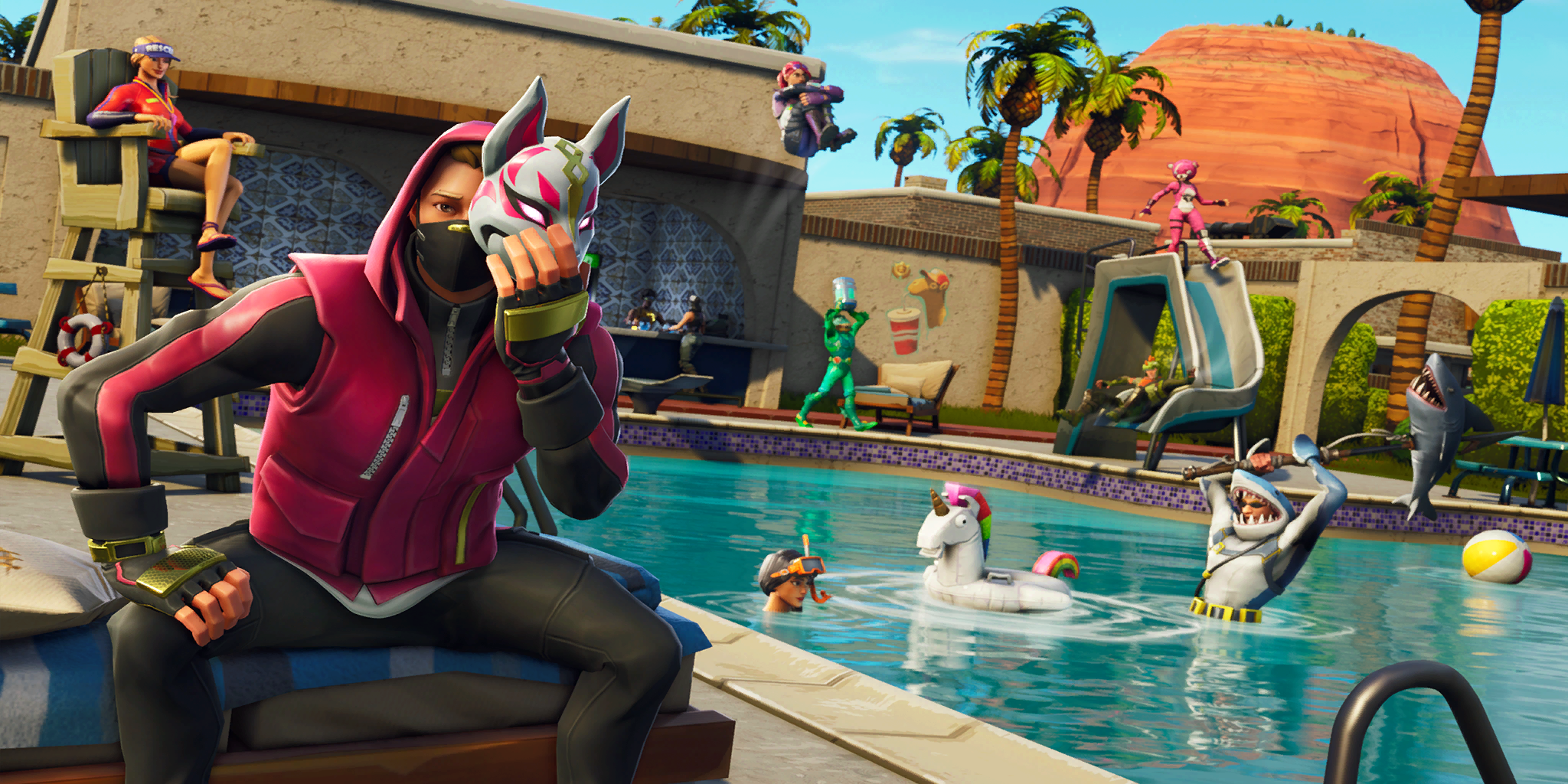 Fortnite Stuck On Loading Screen Mac we found a pool party and decided to jump in. whether we