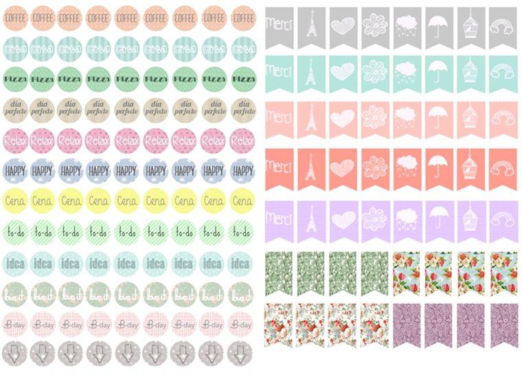 Free printable stickers filofax mr wonderful for Pegatinas decorativas