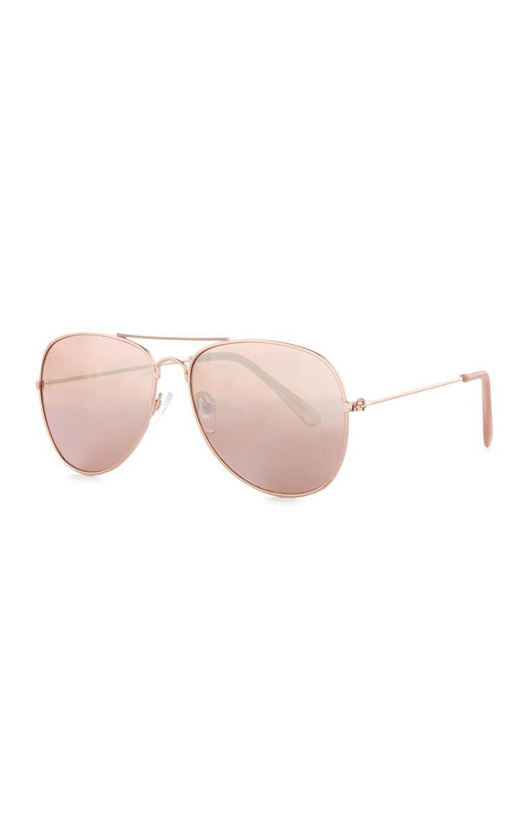 2efc7a2cc39 Primark - Girls Gold Aviator Sunglasses