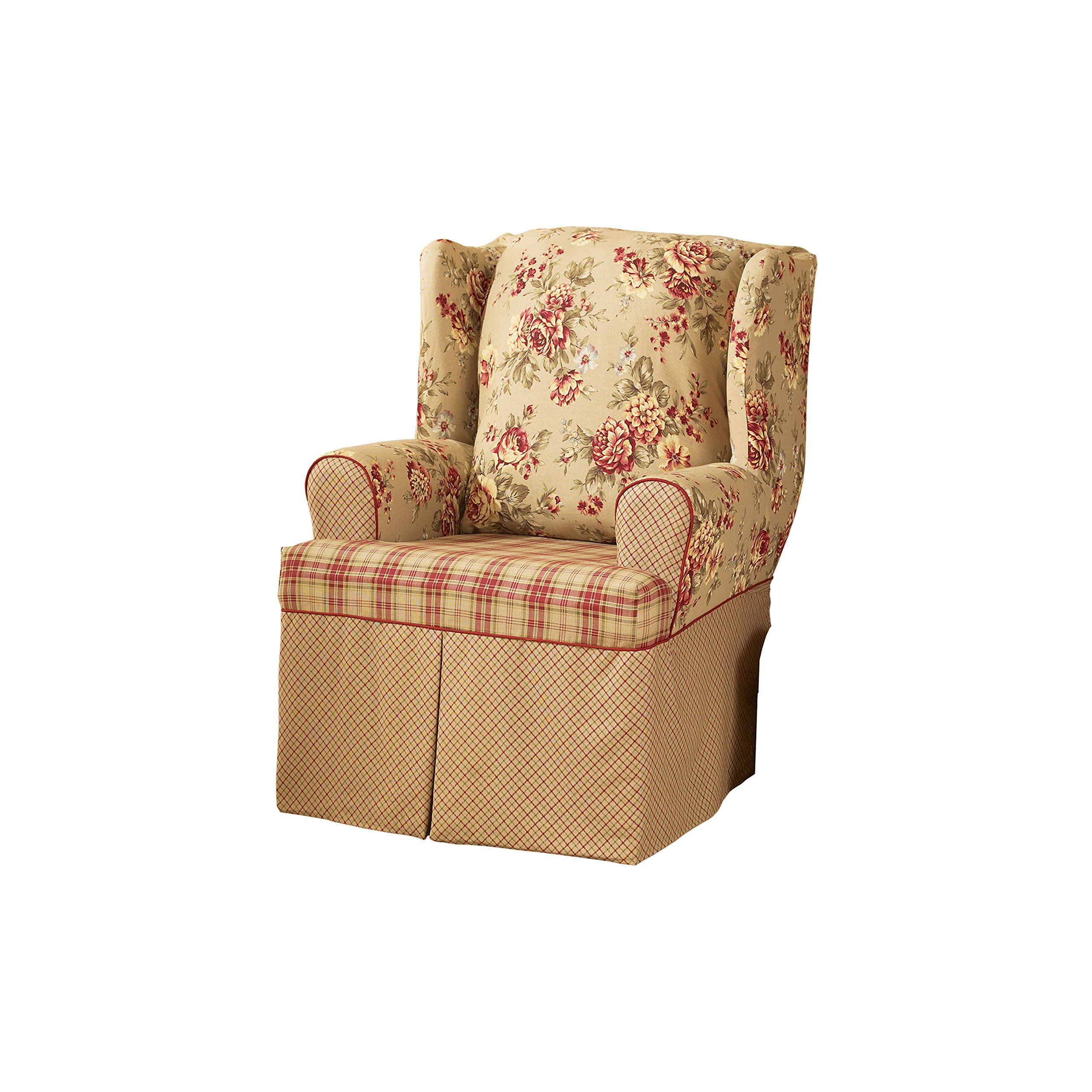Sure Fit Lexington Wing Chair Slipcover Multi SF29848
