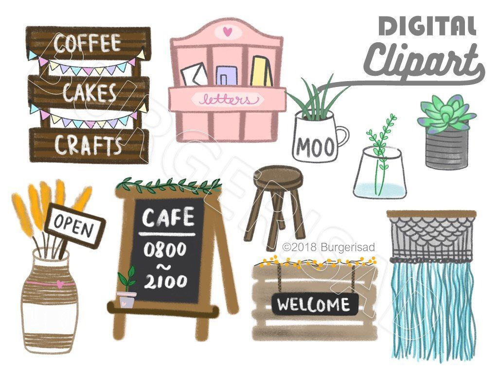 cafe shop front digital clipart png cafe shops pretty houses paris inspired  [ 1024 x 768 Pixel ]
