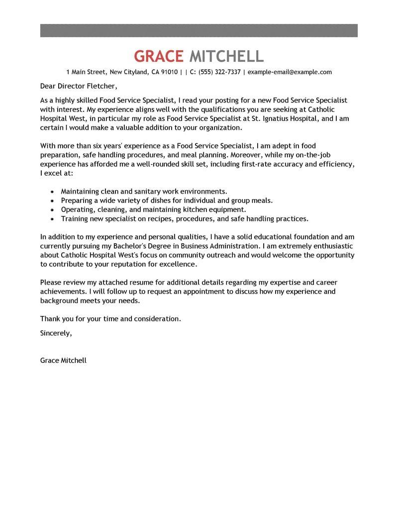 27 Cover Letter For Food Service Best Free Online Plagiarism Check The Student Room