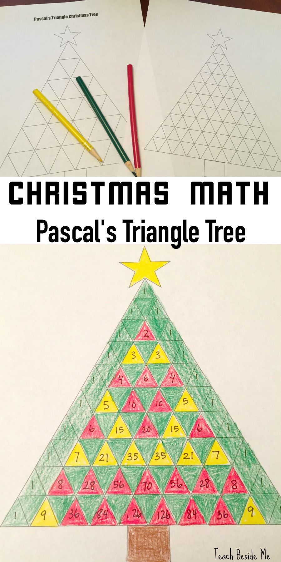 pascal 39 s triangle christmas tree math christmas math math and number patterns. Black Bedroom Furniture Sets. Home Design Ideas