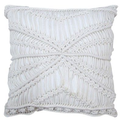 "Target Body Pillow Cover Interesting Macrame Throw Pillow 18""  White  Threshold™  Target  Kyle Inspiration"