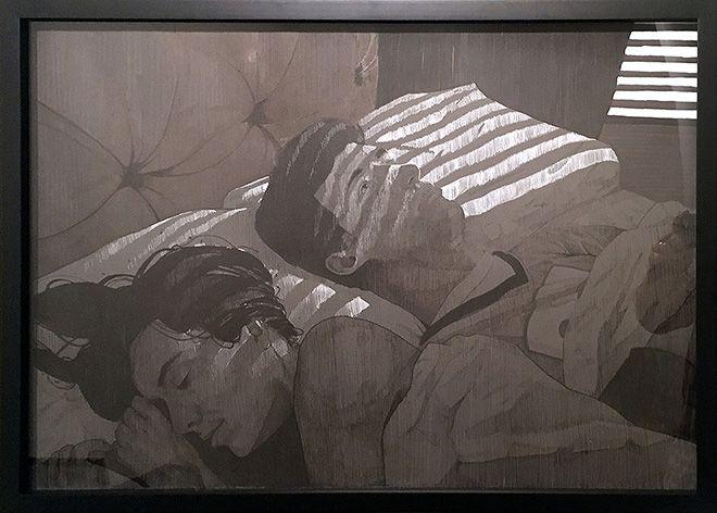 BEZT (Etam Cru) - Stress, 2015, Ink on paper