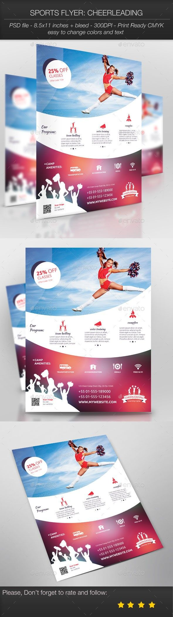 pin by julia covic on flyer design templates pinterest sports