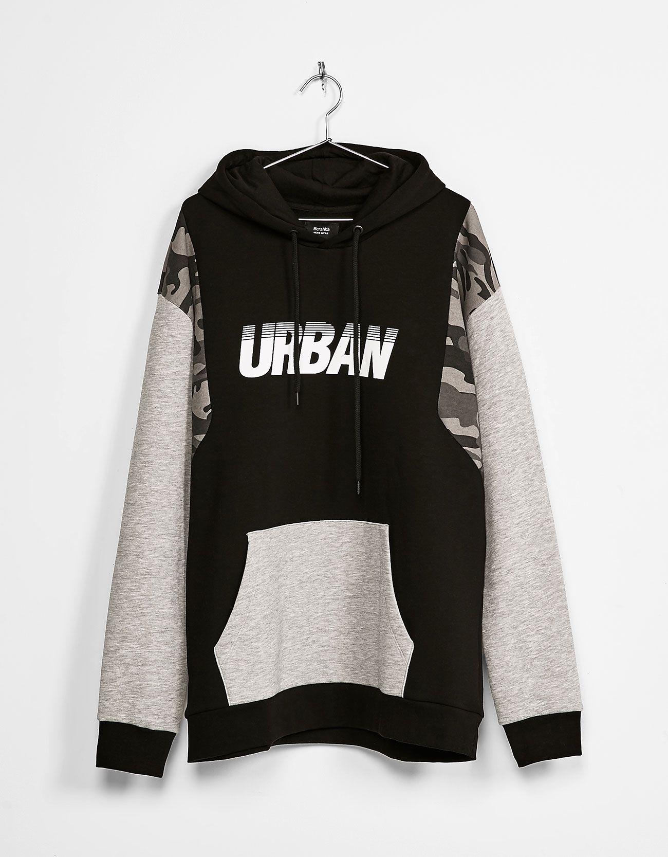 89c66404cb4 Sudadera con capucha cortes urban ny. Descubre ésta y muchas otras prendas  en Bershka con nuevos productos cada semana