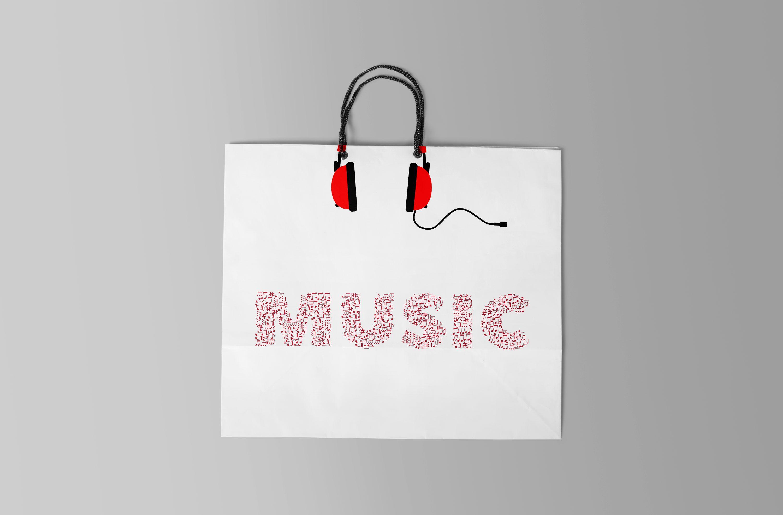Download Free Music Shopping Bag Mockup Free Logo Mockup Logo Design Mockup Mockup Free Psd