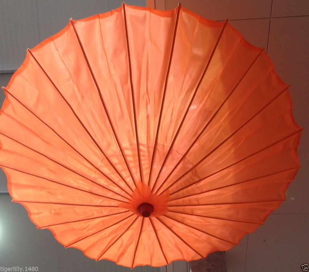 Decorative Oriental Style Plain Bright Coloured 81cm Parasol/umbrella Wedding s