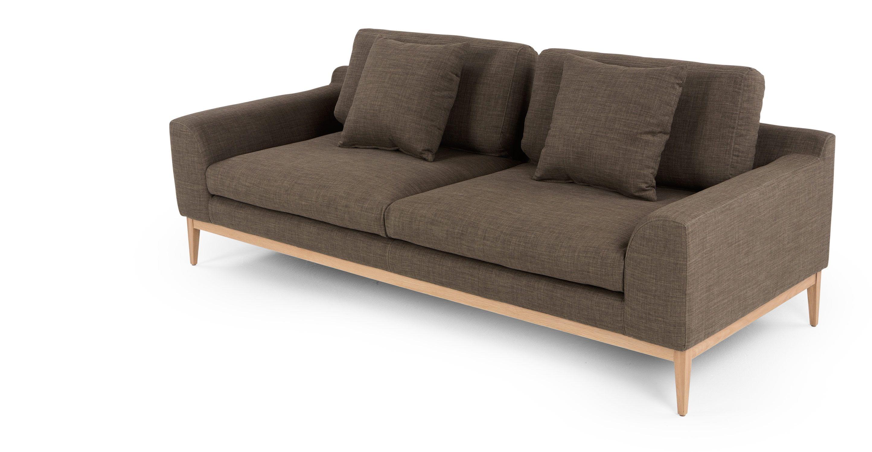 Parker Divano 3 posti, Soft Brown | made.com | low cost design ...