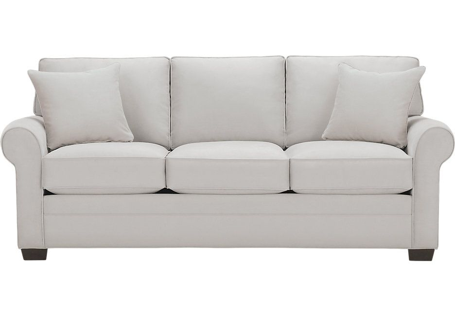 Incroyable Cindy Crawford Home Bellingham Platinum Sofa .588.0. 88W X 38D X 37H . Find