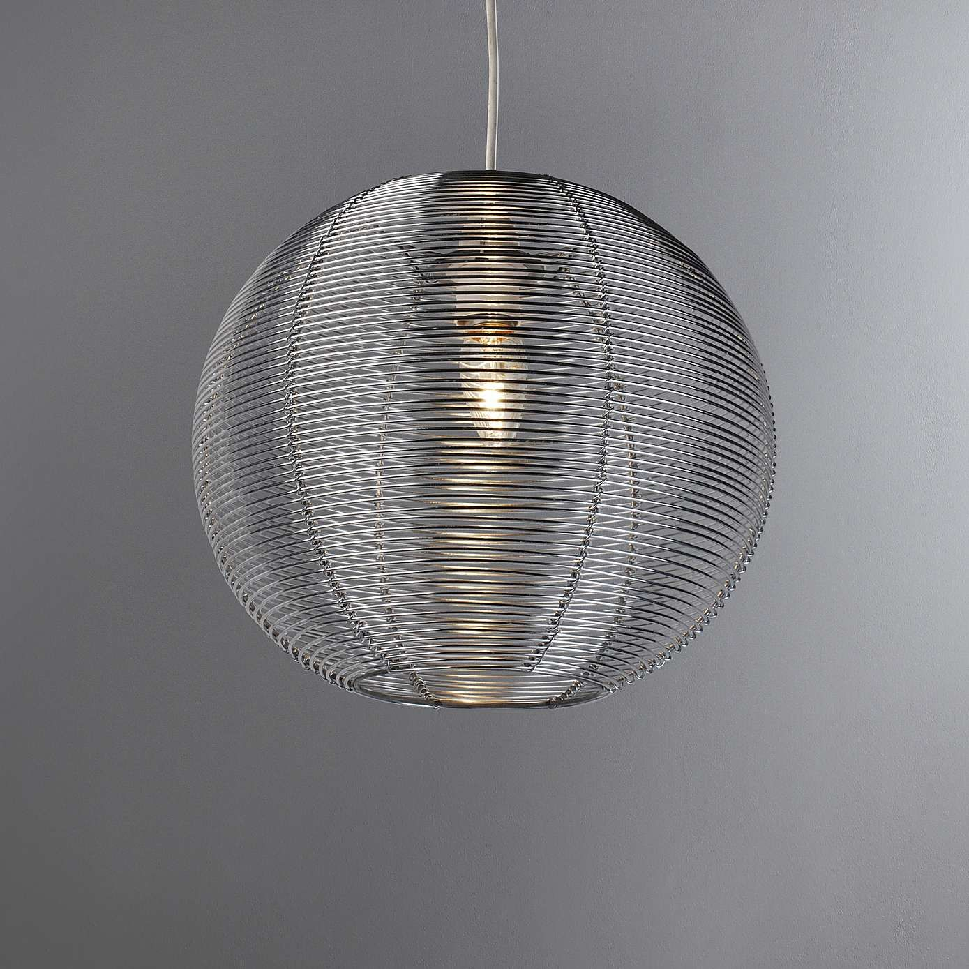 Silver Wire Ceiling Light - WIRE Center •