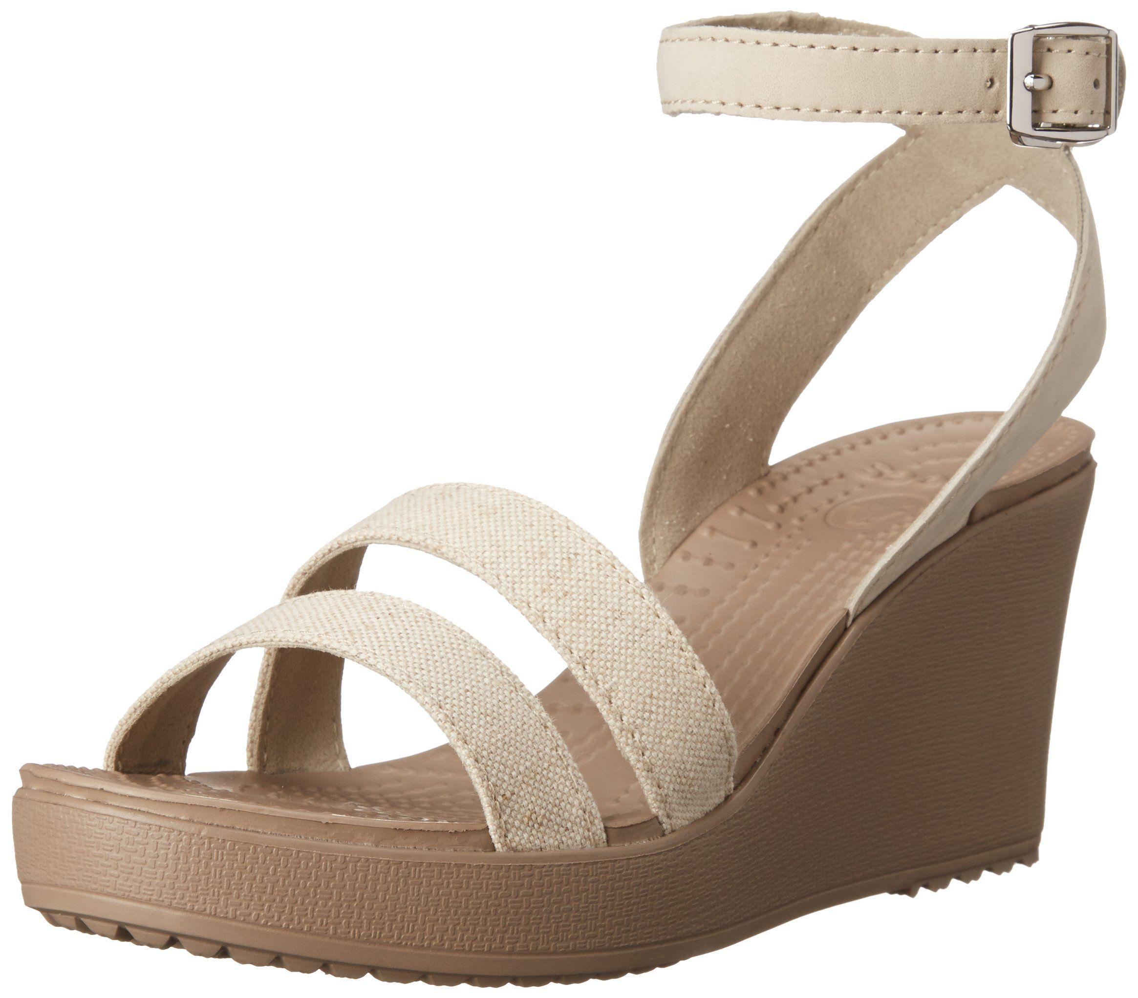 b5dcbc97 Amazon.com: crocs Women's Leigh Wedge: Shoes | Vacation Shopping ...