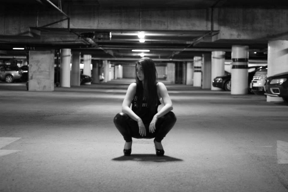 Girl model parking garage photoshoot photography
