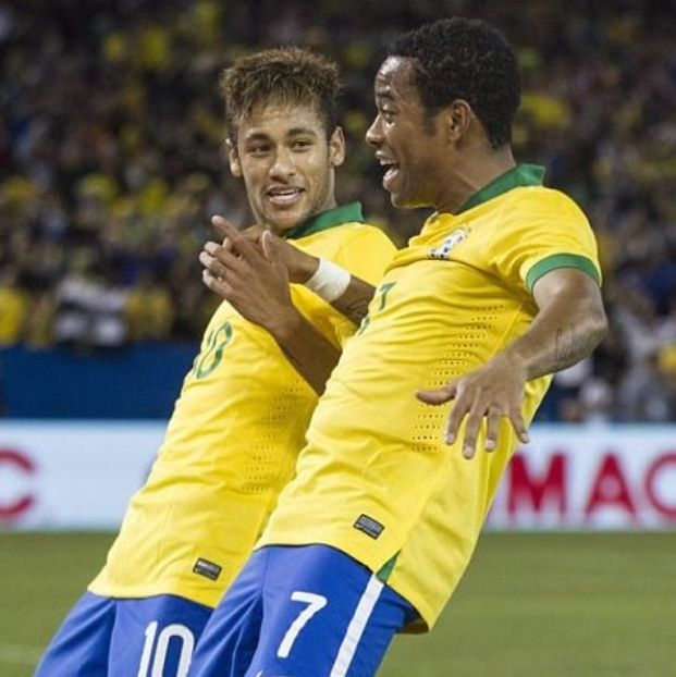 Robinho and Neymar Brazil national football team