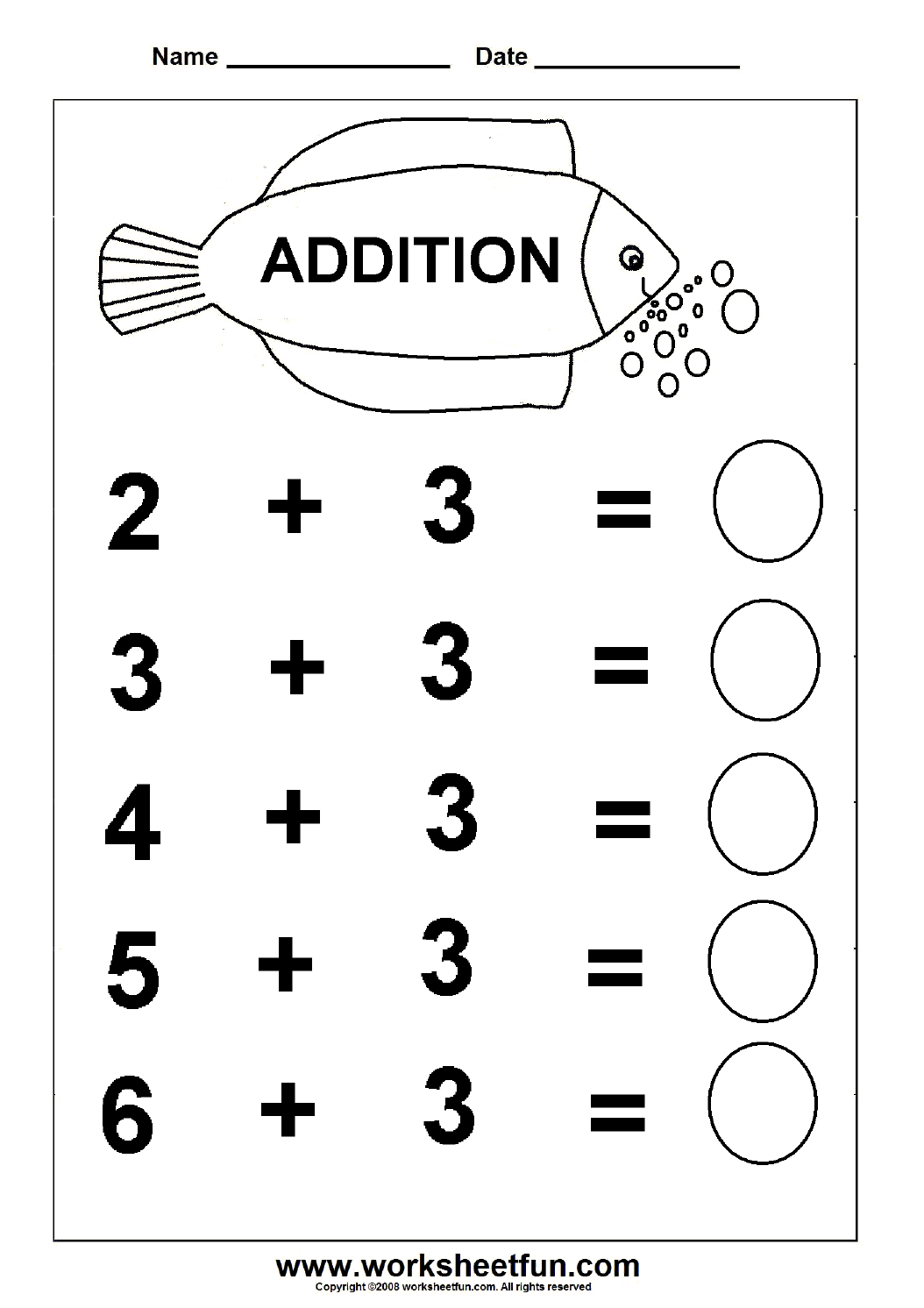 addition 6 worksheets printable worksheets pinterest worksheets math and kindergarten. Black Bedroom Furniture Sets. Home Design Ideas