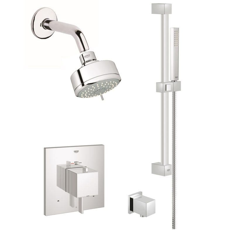Grohe Gss Eurocube Dth 03 Eurocube Thermostatic Shower System With