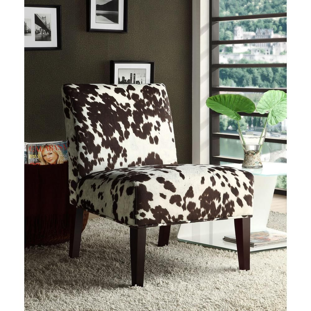 Cowhide Print Accent Chair Storage Bean Bag Homesullivan Brown In 2019 Products 40468f23s 3a The Home Depot Fabric