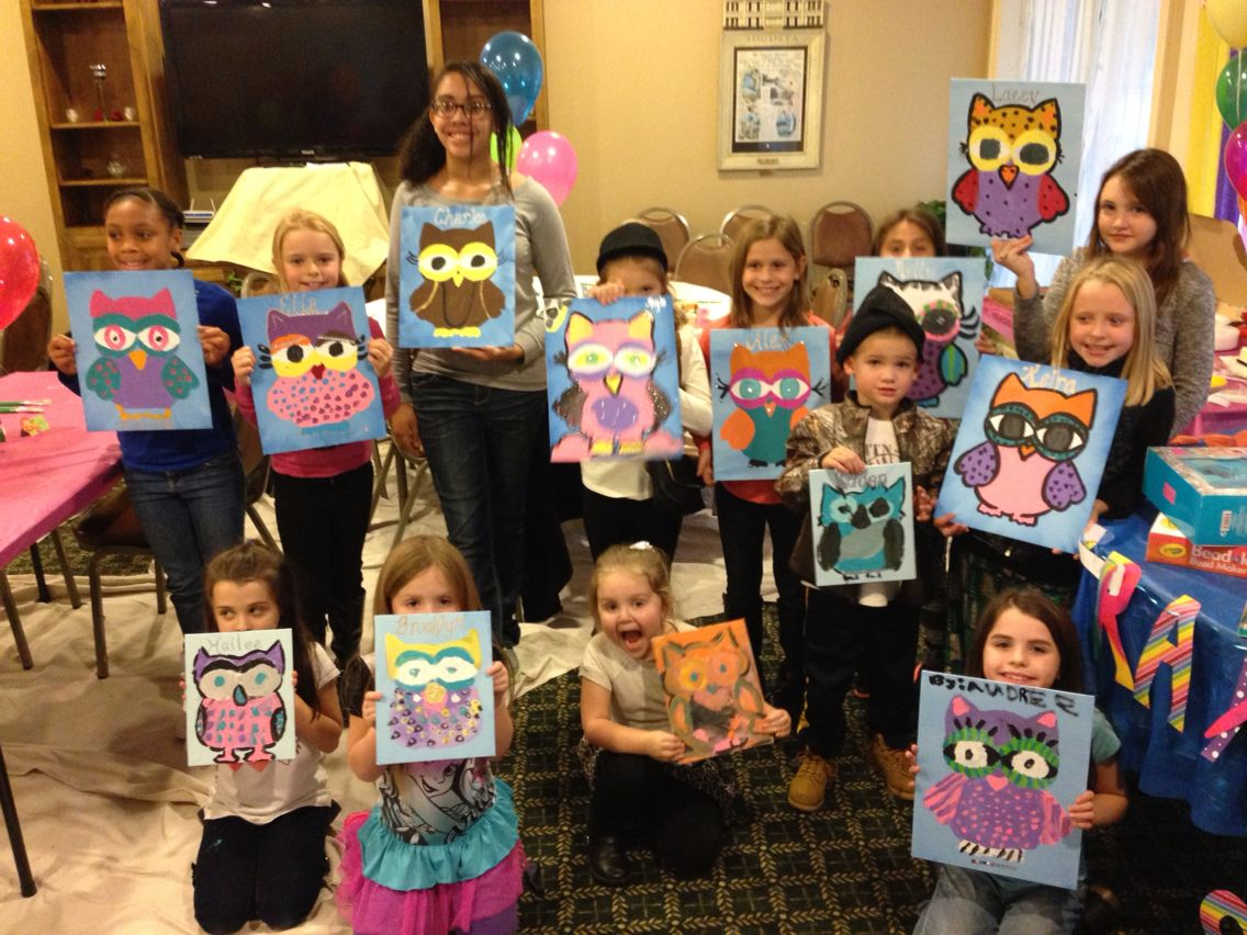 Paint Party - 9 year old | 9 year old girl birthday, Kids ...