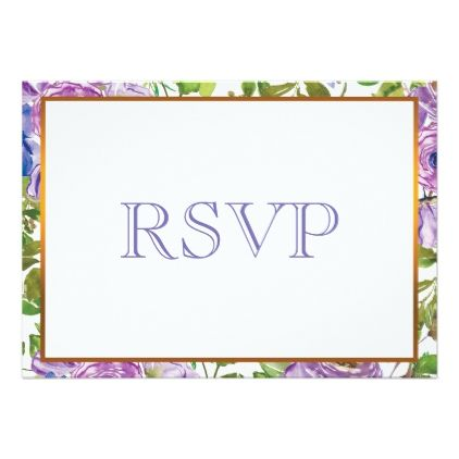 Spring Flower Purple Floral Wedding RSVP Card - floral style flower flowers stylish diy personalize