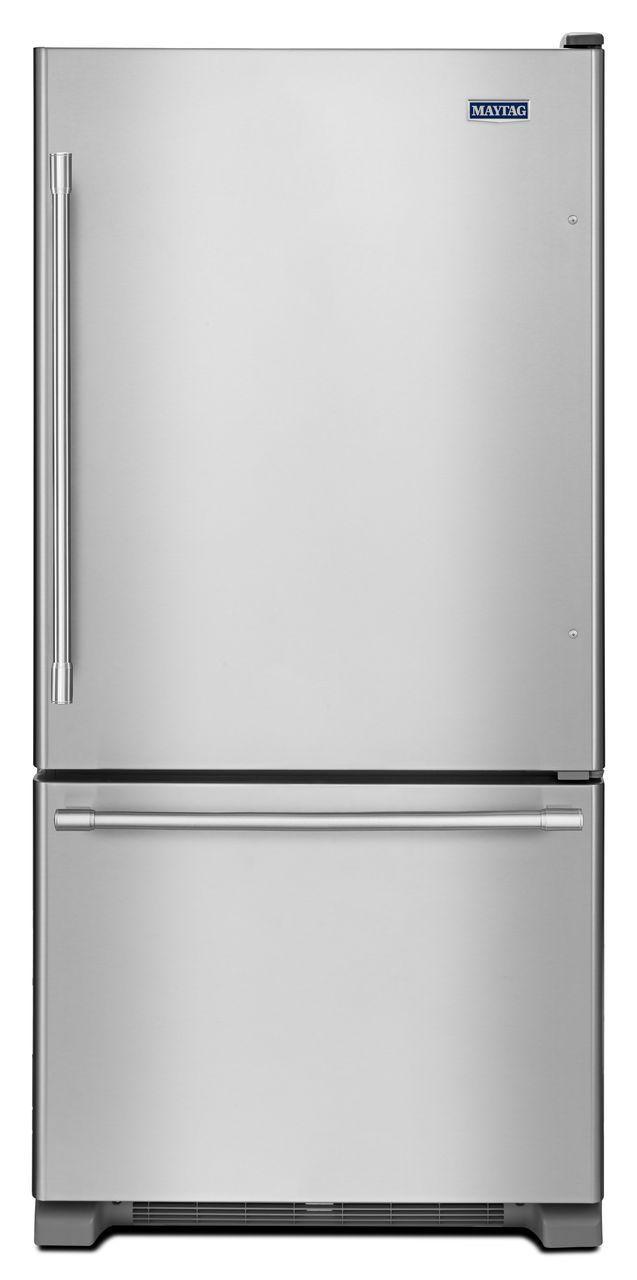 Maytag Cu Ft Stainless Steel Bottom Freezer Refrigerator In - Abt refrigerators