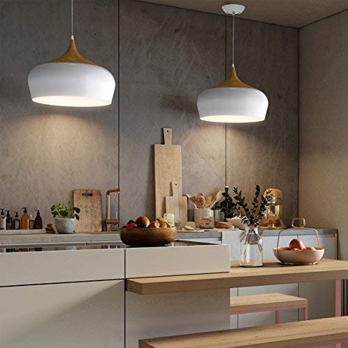 Tomons Modern Style Wood Pattern Ceiling Lights Pendant Light With 8w Led Lamp Bulb For Dini Ceiling Lights Living Room Ceiling Lights Wooden Pendant Lighting