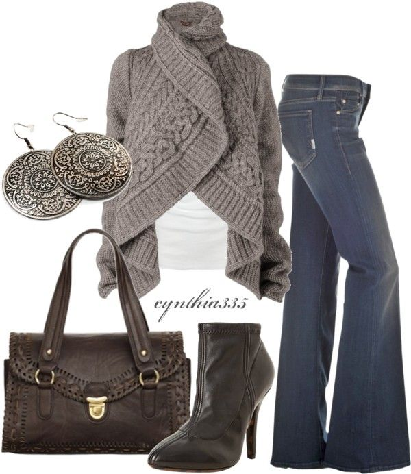 """Cardigan to Die For"" by cynthia335 on Polyvore"