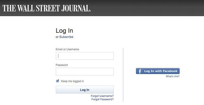 wsj login wall street journal login journal news on wall street journal login id=58775