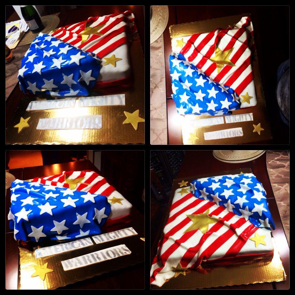 DIY U.S.A. Patriotic Banner from Paper Goodie Bags