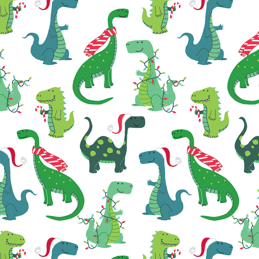 Decked Out Dinos 10 Ft Jumbo Roll Christmas Doodles Christmas Gift Packaging Cute Wallpapers Quotes
