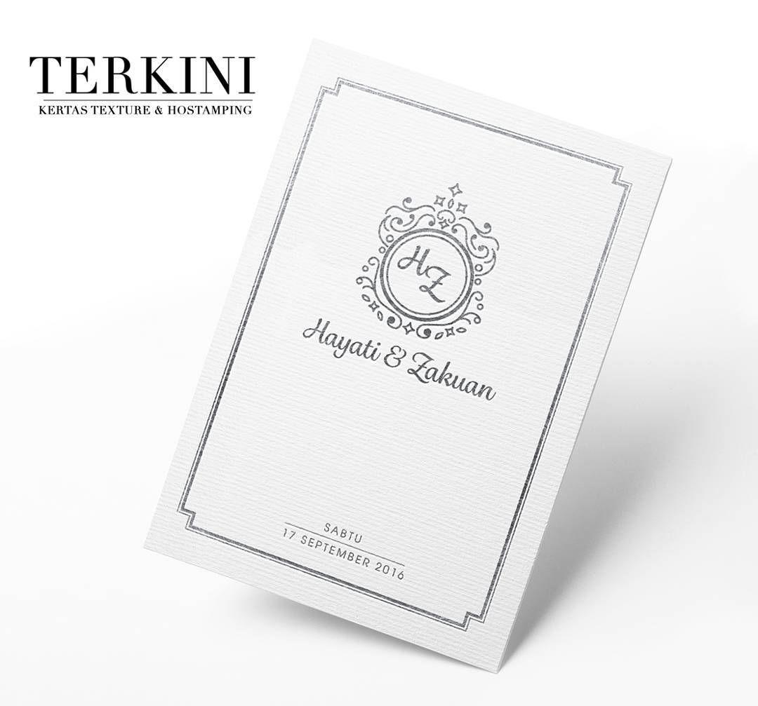 Kad Terbaru Kami Menggunakan Kertas Bertexture Dan Kemasan Hostamping Dimuka Hadapannya Gabungan Kertas Ber Wedding Cards Wedding Invitation Cards Kad Kahwin