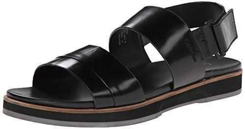 Calvin Klein Men's Dex Box Leather Sandal