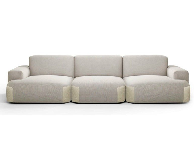 Sectional Upholstered Modular Fabric Sofa Pedas Collection By Bosc