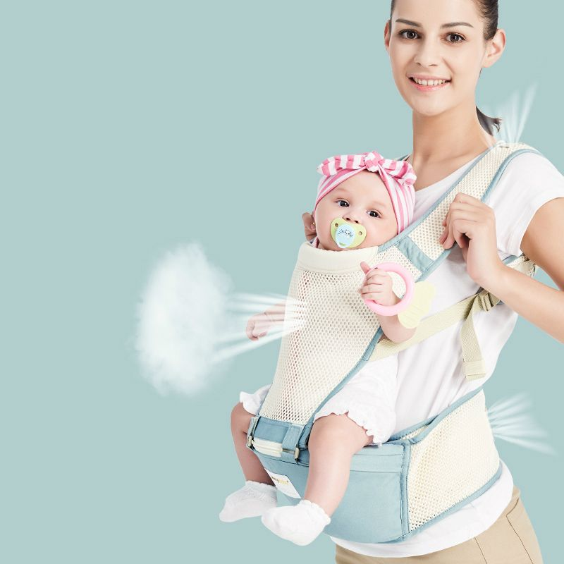 Best Selling Baby Double Shoulder Strap Summer Breathable Baby Belt Multifunctional Baby Carrier Baby Waist Stool Bel Baby Carrier Baby Seat Baby Sling Carrier