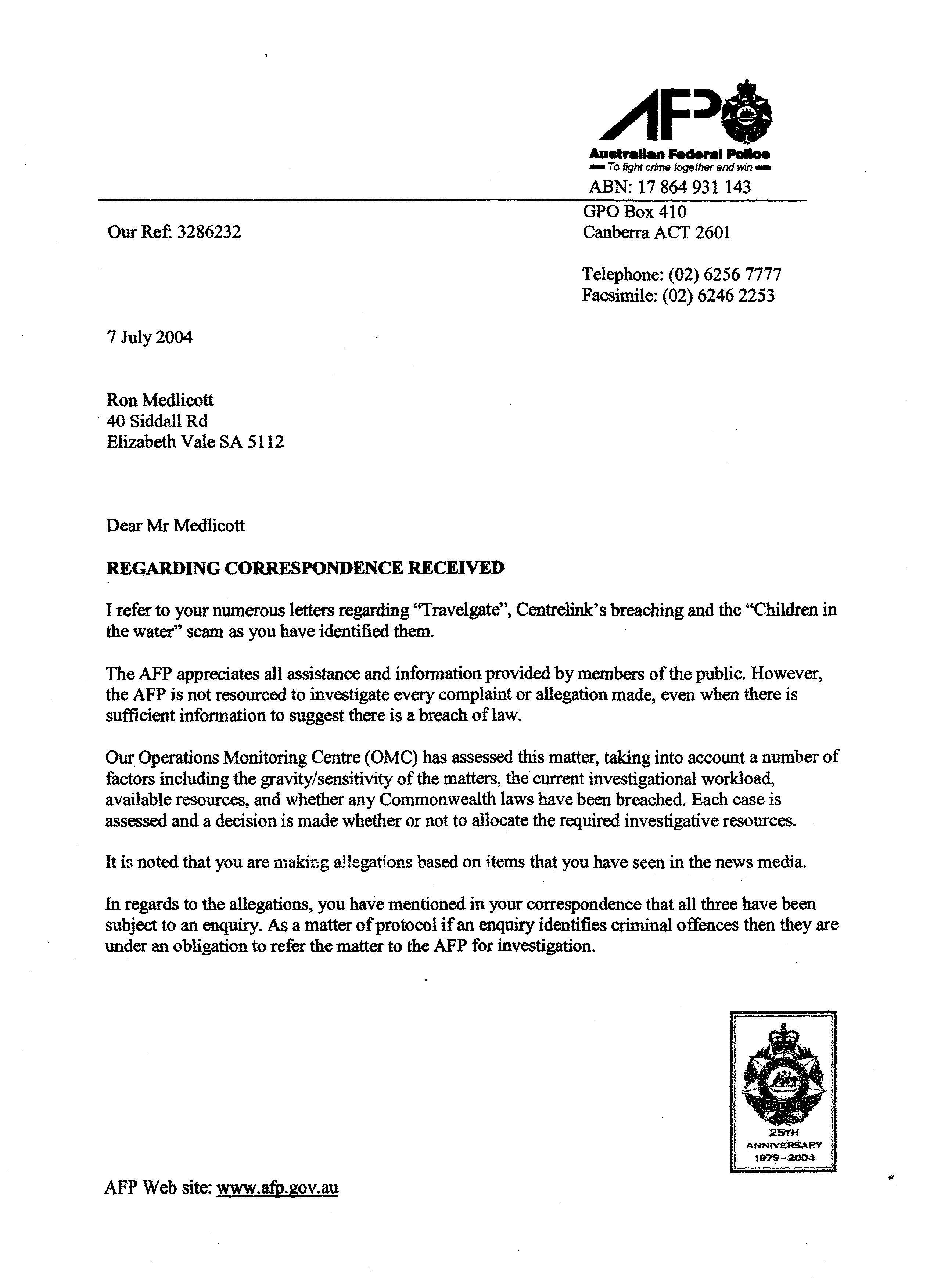 Quotagate And Breachgate The Howard Governments Hdwarning Letter
