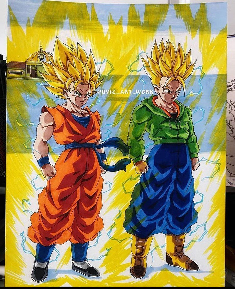Goten And Trunks Ssj2 Dragon Ball Art Dragon Ball Artwork Anime Dragon Ball Super